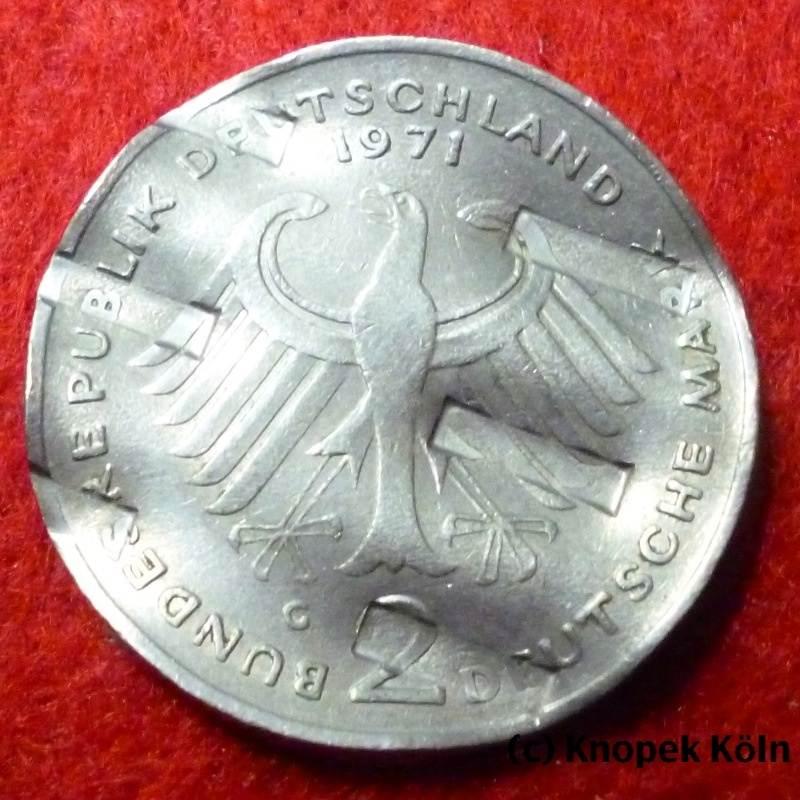 Lot 46 Entwertete Dm Kursmünzen Versch Jg Brd Konvolut 46 St
