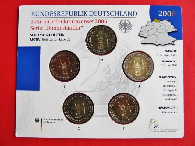 2 Euro Gedenkmünzenset Blister 2006 Brd Deutschland Brd 2 Euro