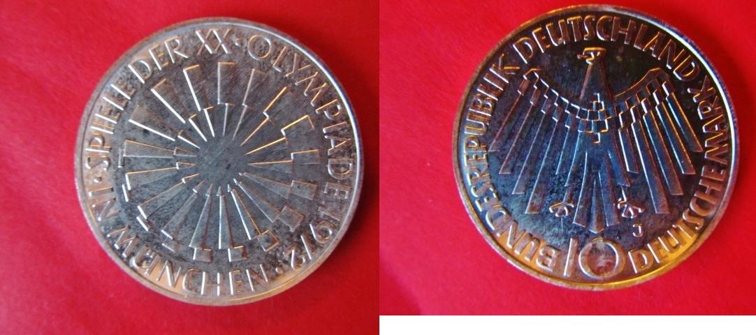10 Dm 1972 J Brd Deutschland Olympiade München Mit Seltener