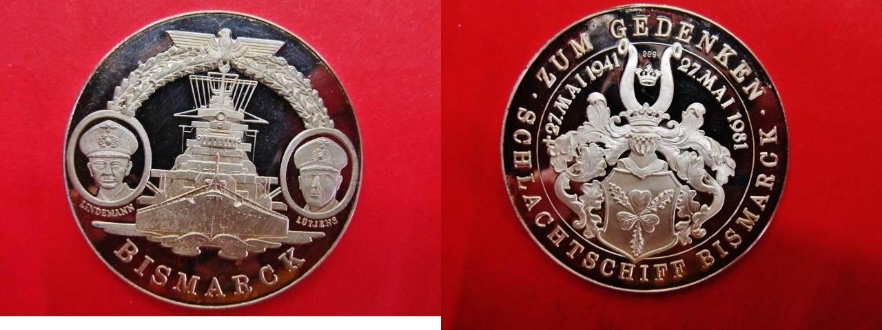 Medaille 1981 Brd Drittes Reich Silbermedaille Zum Gedenken 1941