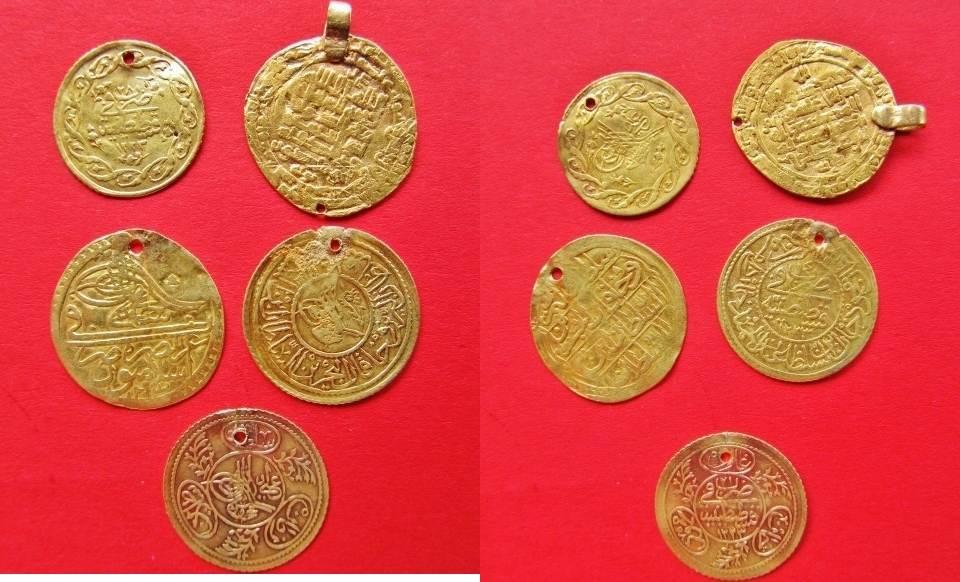Lot 5 Münzen Türkei Osmanisches Reich 5 X Gold Münzen