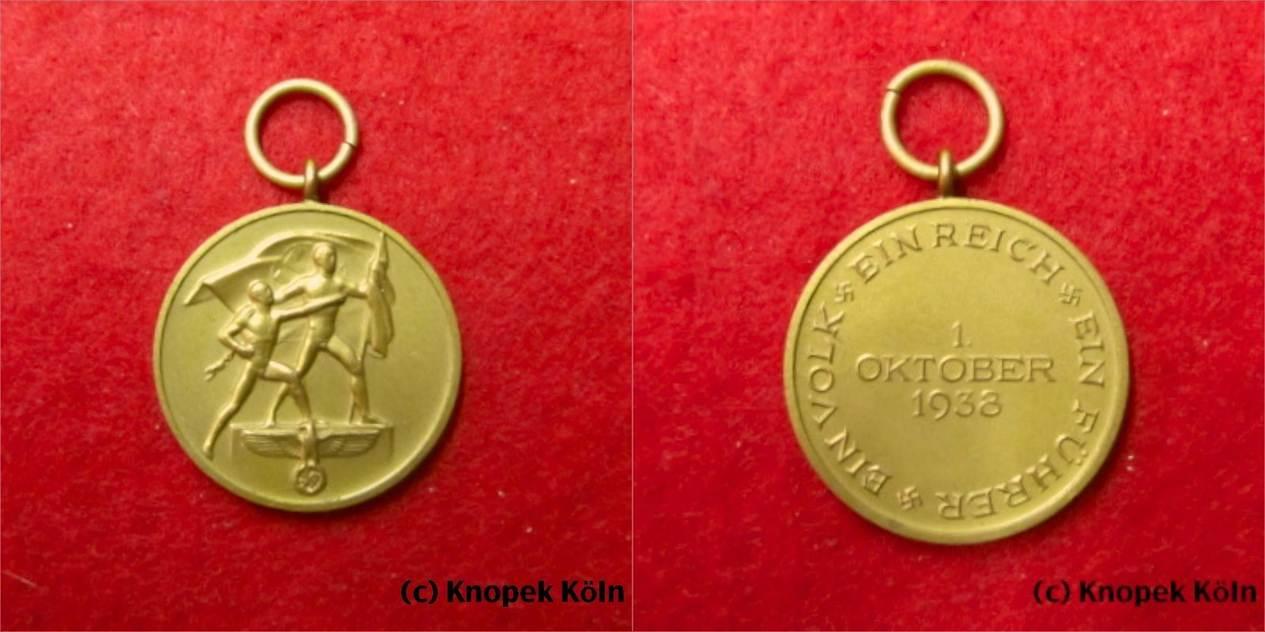 Sudeten Medaille Drittes Reich3 Reich Dr Sudetenmedaille Am Henkel