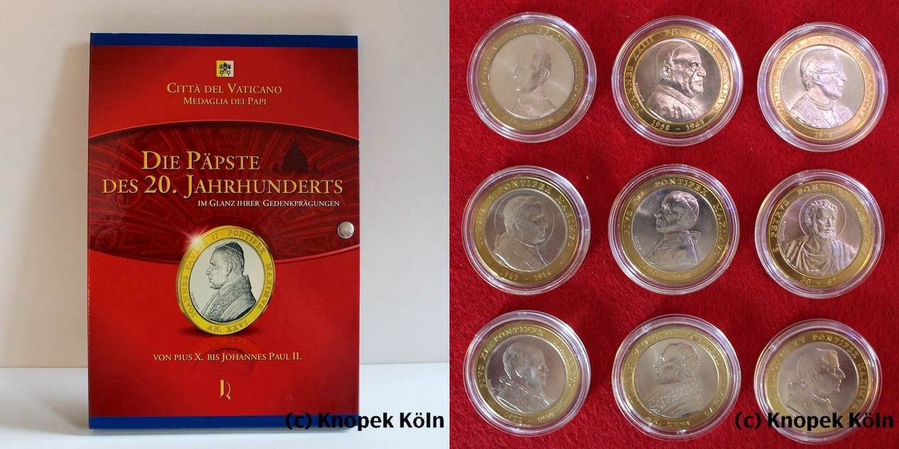 Lot 9 Medaillen 2004 Vatikan Die Päpste D 20 Jh Im Glanz Ihrer