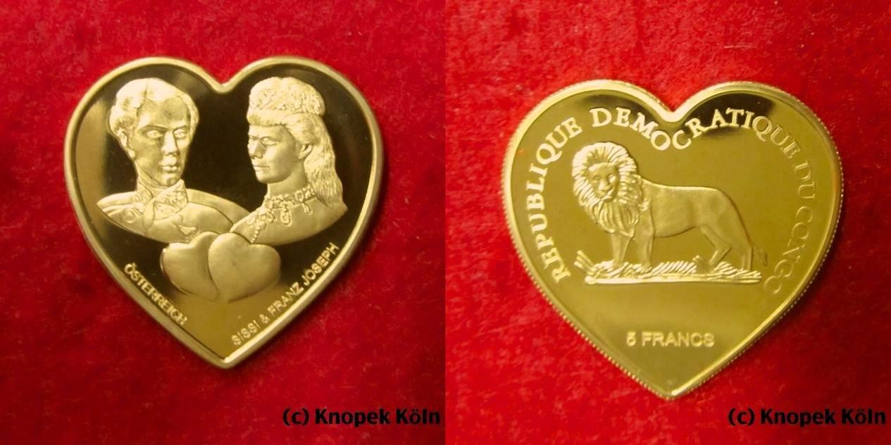 5 Francs O Jg Kongo Dr Sissi Franz Joseph Von österreich