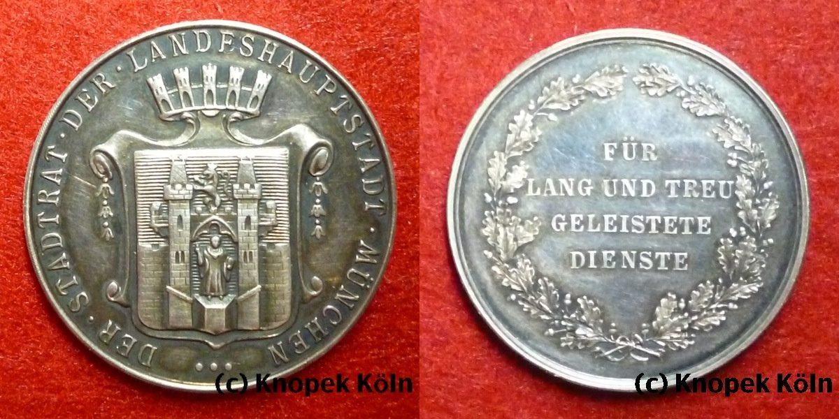 Silber Medaille Bayern Stadtrat München Für Lang Und Treu Geleistete