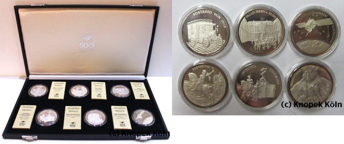 Lot 6x Silber Medaillen 500 Jahre Post 1990 Brd 6 Silbermedaillen