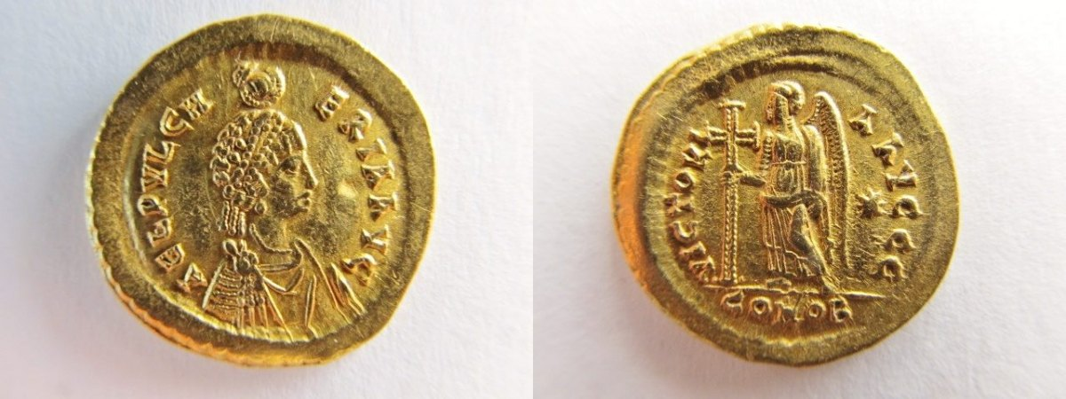 Solidus 5jh Antike Münzen Römer Av Solidus Gold Aelia