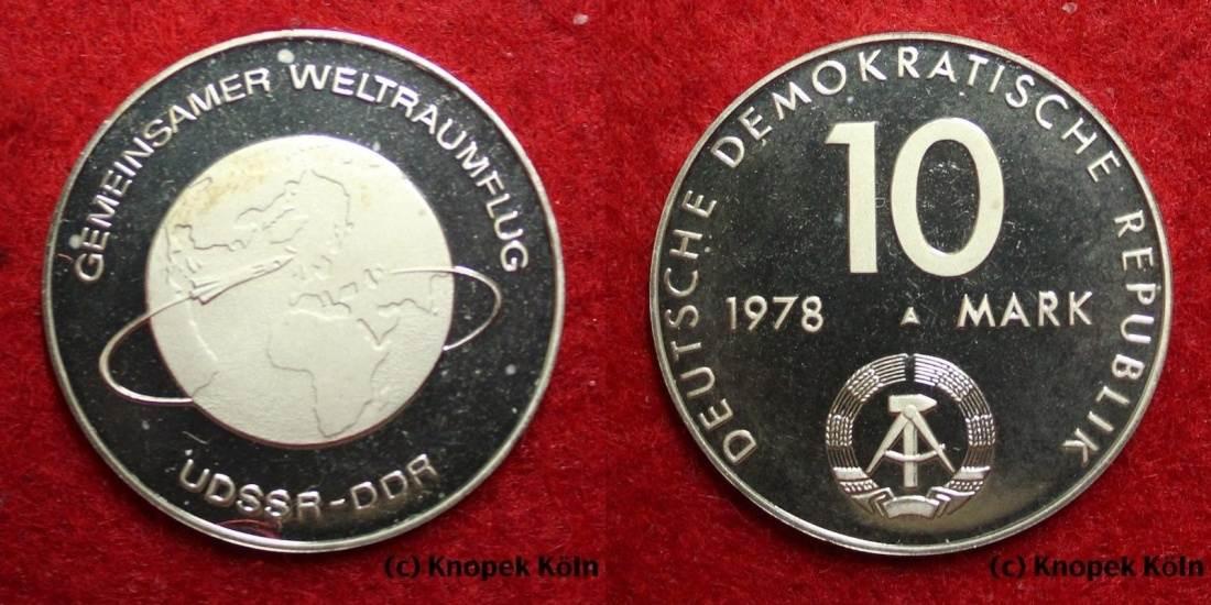 10 Mark Gedenkmünze 1978 Ddr Gemeinsamer Weltraumflug Udssr Ddr Sehr