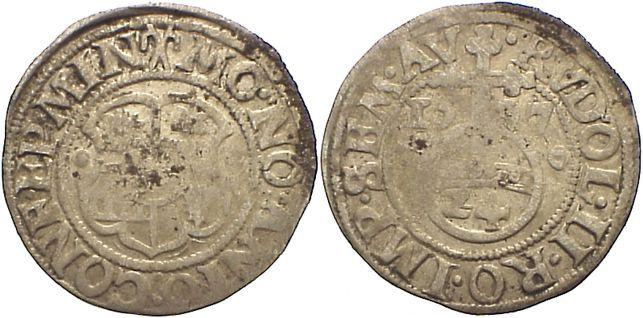 1/24 Taler 1597 Minden, Bistum Anton von Schauenburg 1587-1599. Belagreste, fast sehr schön