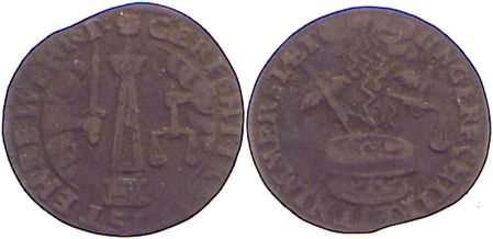 Rechenpfennig 1734-1780 Rechenpfennige Johann Georg Kunstmann 1734-1780. fast sehr schön