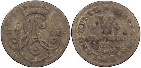 5 Pfennig (Stüber) 1 1718 Osnabrück, Bistum Ernst August II. von York 1716-1728. l. korrodiert, fast sehr schön