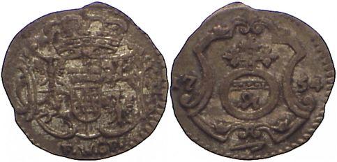 Pfennig 1754 FW Sachsen-Albertinische Linie Friedrich August II. 1733-1763. sehr schön