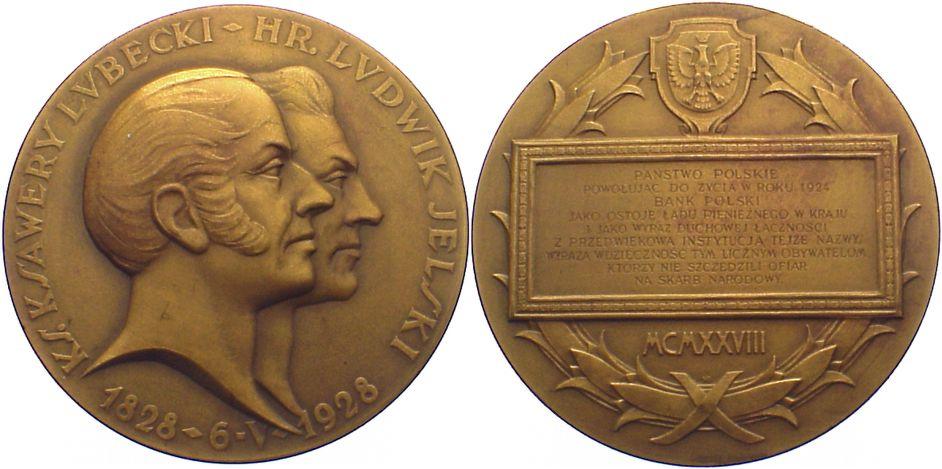 Bronzemedaille 1928 Polen Zweite Republik 1923-1939. vorzüglich