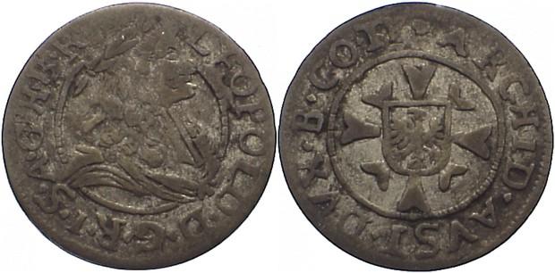 1 Kreuzer 1657-1705 Haus Habsburg Leopold I. 1657-1705. fast sehr schön