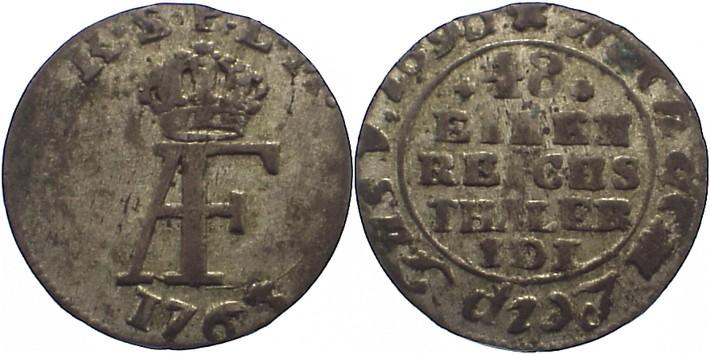 1/48 Taler 1763 Pommern-unter schwedischer Besetzung Adolph Friedrich 1751-1771. sehr schön