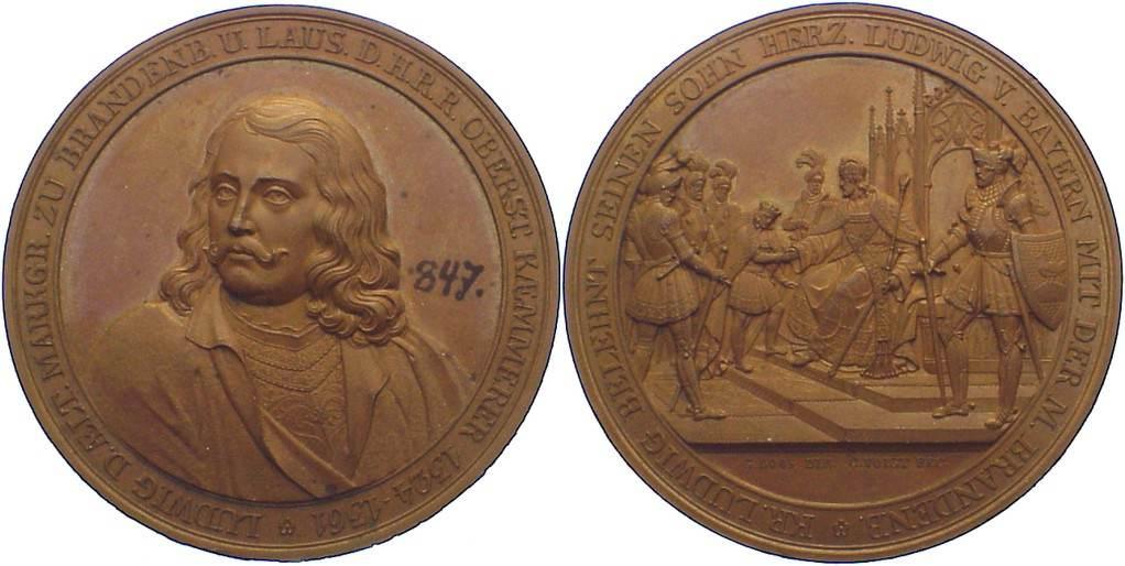 Bronzemedaille 1797-1840 Brandenburg-Preußen Friedrich Wilhelm III. 1797-1840. Tuschezahl, min. Randfehler, vorzüglich+