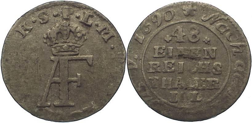 1/48 Taler 1763 Pommern-unter schwedischer Besetzung Adolph Friedrich 1751-1771. kl. Schrötlingsfehler, sehr schön