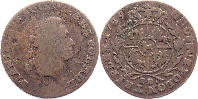 3 Grosz 1789 EB Polen Stanislaus August 1764-1795. fast sehr schön / sehr schön
