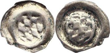 Hohlpfennig 1464-1475 Magdeburg, Erzbistum Johann, Pfalzgraf bei Rhein 1464-1475. selten, Randfehler, sehr schön