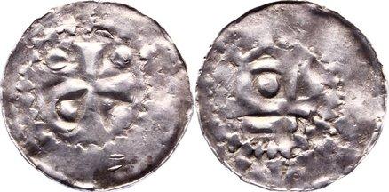 Pfennig 1002-1024 Worms, königliche und kaiserliche Münzstätte Heinrich II. 1002-1024. fast sehr schön