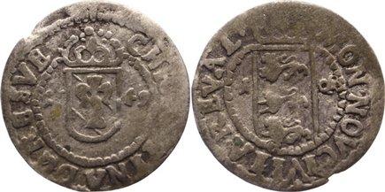 1 Öre (Weissen) 1 1649 Reval Christina von Schweden 1632-1654. fast sehr schön