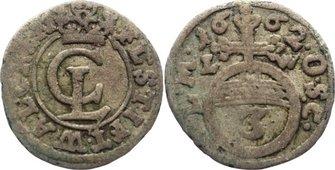 3 Pfennig 1662 LW Braunschweig-Lüneburg-Celle Christian Ludwig 1648-1665. selten, fast sehr schön