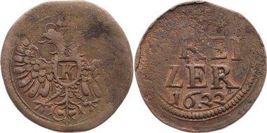 Kipper Kupfer Kreuzer 1622 Kempten, Stadt Prägeschwäche, sehr schön