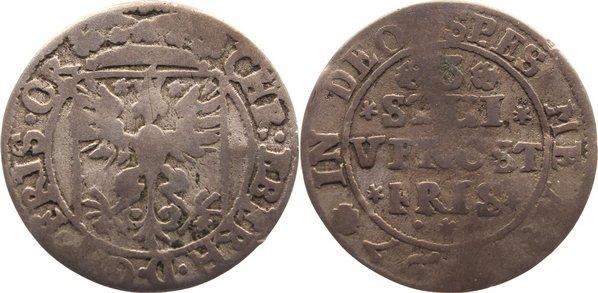 3 Stüber 1697 Ostfriesland Christian Eberhard 1665-1708. schön +