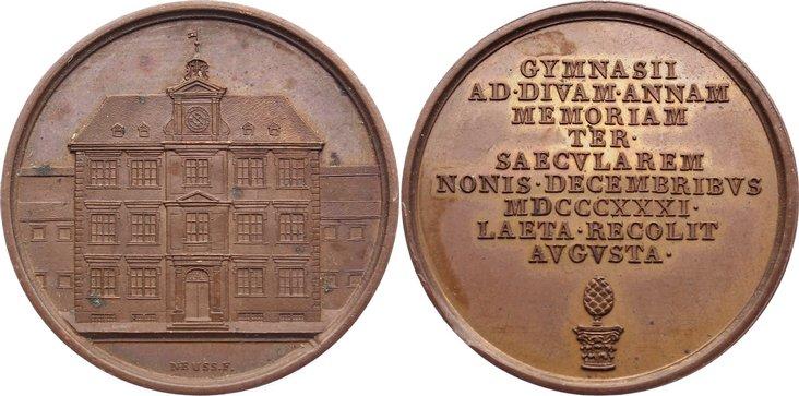 Bronzemedaille 1831 Augsburg, Stadt vorzüglich +