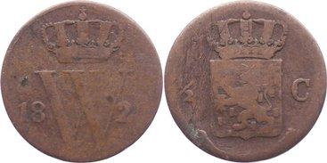 Cu 1/2 Cent 1822 Niederlande-Königreich Wilhelm I. 1813-1815-1840. Kratzer, schön