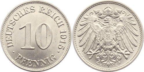 10 Pfennig 1915 E Kleinmünzen fast Stempelglanz