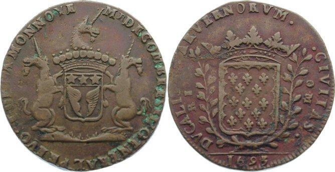 Kupfer - Jeton 1693 Frankreich-Jetons Belagreste, sehr schön