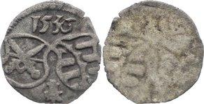 Einseitiger Pfennig 1536 Sachsen-Kurfürstentum Johann Friedrich und Georg 1534-1539. sehr schön