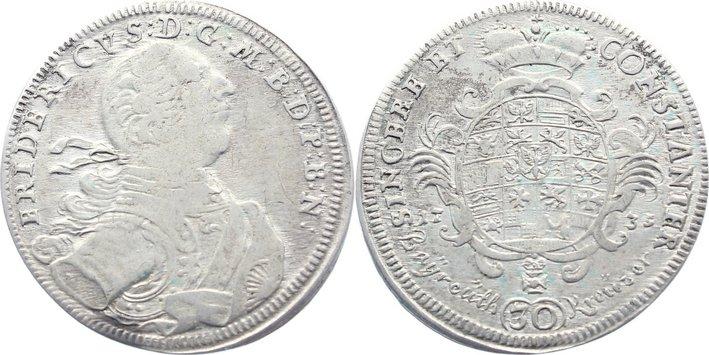 30 Kreuzer 1735 Brandenburg-Bayreuth Friedrich 1735-1763. sehr schön