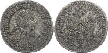 1 Kreuzer 1747 CL Brandenburg-Bayreuth Friedrich 1735-1763. sehr schön