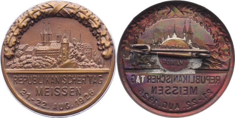 22.8.1926 Sachsen-Meißen, Stadt vorzüglich