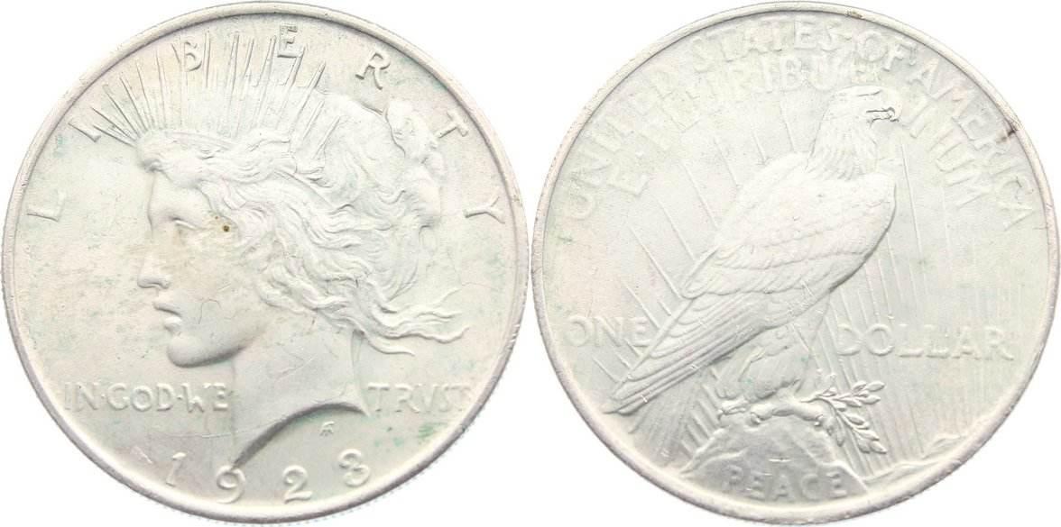Dollar 1923 USA fast vorzüglich