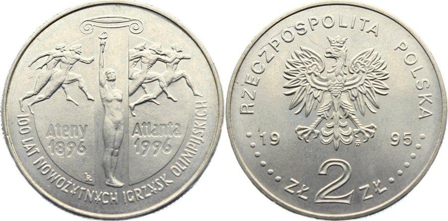 2 Zloty 1995 Polen Republik seit 1990. prägefrisch