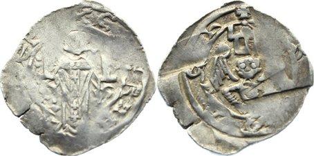 Pfennig 1200-1246 Salzburg, Erzbistum Eberhard II. von Regensberg 1200-1246. sehr schön