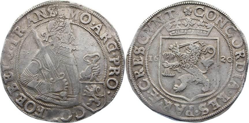 Niederländischer Reichstaler 1 1620 Niederlande-Overijssel sehr schön