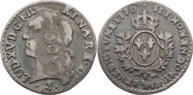 1/20 d'écu au bandeau (6 Sols) 1 1770 Frankreich Ludwig XV. 1715-1774. selten, sehr schön