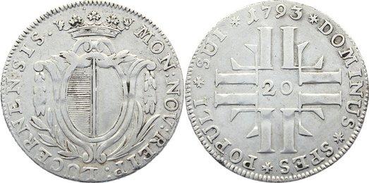20 Kreuzer 1793 Schweiz-Luzern sehr schön