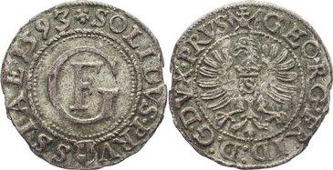 Schilling 1593 Preußen, Herzogtum (Ostpreußen) Georg Friedrich als Administrator 1578-1603. kl. Randfehler, sehr schön