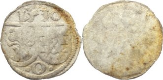 Einseitiger Pfennig 1530 Öttingen Karl Wolfgang, Ludwig XV., Martin, Ludwig XIV. 1522-1529. kl. Prägeschwäche, sehr schön