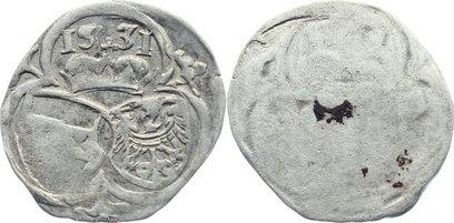 Einseitige 2 Pfennig 1531 Schlesien-Der oberste Lehnsherr Ferdinand I. 1526-1564. sehr schön