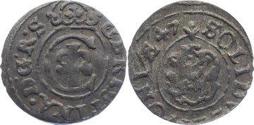 Schilling 1647 Livland Christina von Schweden 1632-1654. sehr schön +