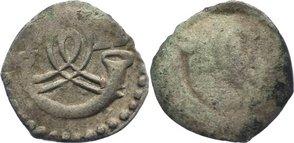 Einseitiger Pfennig 1593-1608 Württemberg Friedrich I. 1593-1608. Prägeschwäche, sehr schön
