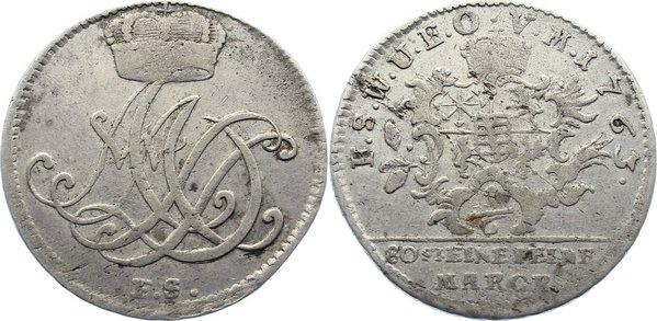 1/6 Taler 1763 FS Sachsen-Weimar-Eisenach Anna Amalia 1758-1775. sehr schön