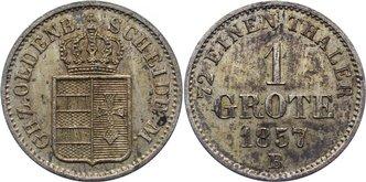 Grote 1857 B Oldenburg Nicolaus Friedrich Peter 1853-1900. fleckige Patina, vorzüglich