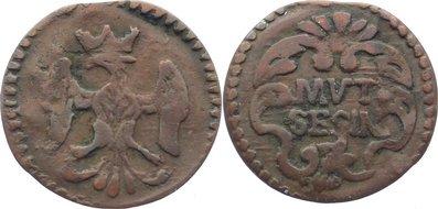 Cu Sesino 1706-1737 Italien-Modena Rinaldo d'Este, 2. Regierung 1706-1737. fast sehr schön